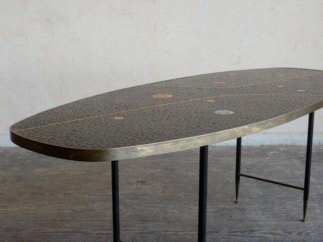 exklusiver wohnzimmertisch coffee table mosaik fliesen tisch 50er 60er ebay. Black Bedroom Furniture Sets. Home Design Ideas