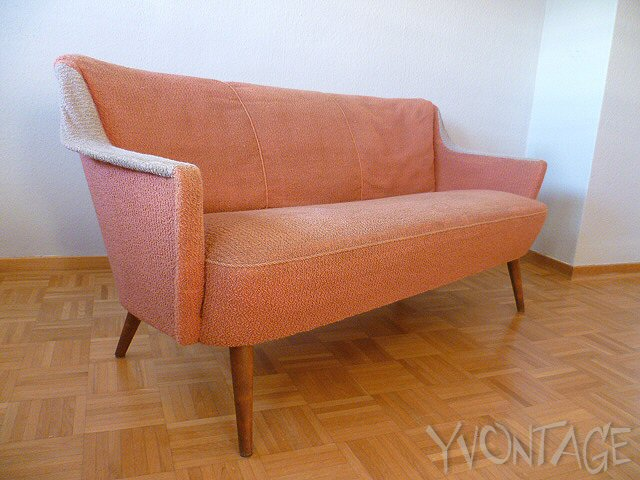Stylische couch sofa cocktailsofa lounge 50er 60er for Sofa 60er gebraucht