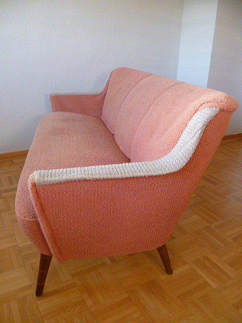 stylische couch sofa cocktailsofa lounge 50er 60er. Black Bedroom Furniture Sets. Home Design Ideas