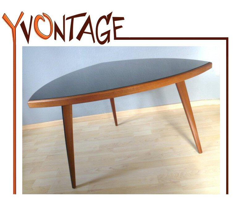 Cocktailtisch dreieckstisch wohnzimmertisch tisch schwarz for Tisch 50er design