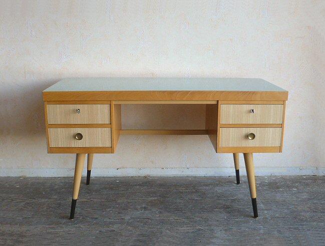 stylischer schreibtisch tisch table desk ekawerk resopal 50er 60er ebay. Black Bedroom Furniture Sets. Home Design Ideas