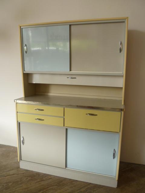 k chenschrank k chenbuffet k che pastell blau gelb grau 50er 60er rockabilly ebay. Black Bedroom Furniture Sets. Home Design Ideas