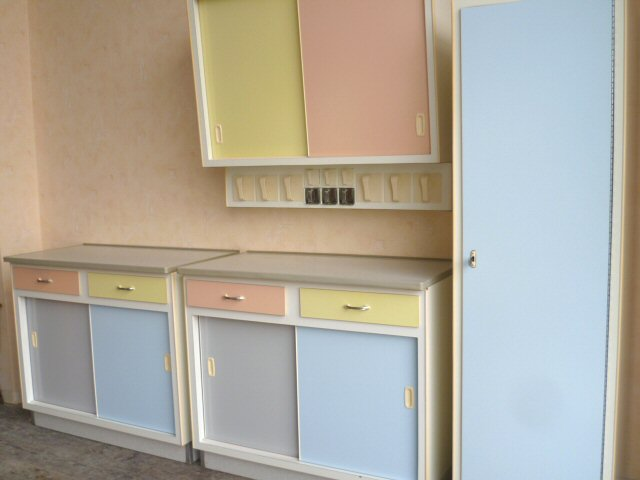 k chenschrank k chenbuffet h ngeschrank k che pastell 50er 60er rockabilly ebay. Black Bedroom Furniture Sets. Home Design Ideas