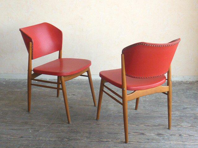 Stylische Stühle Küchenstühle Küchenstuhl Stuhl rot Holz 50er 60er ...