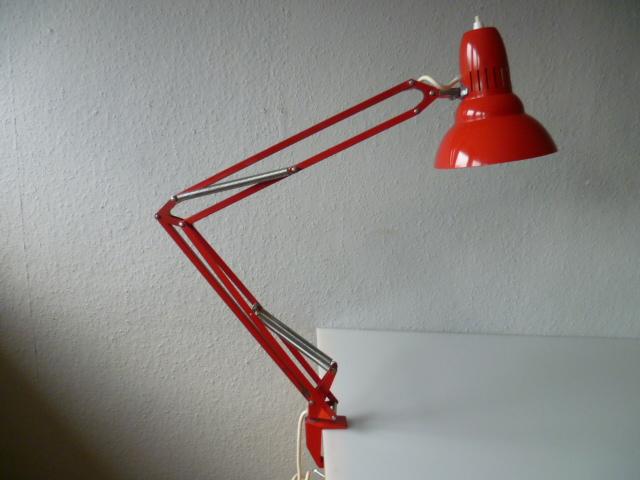 kultige architektenlampe ledu sweden gelenklampe lampe rot. Black Bedroom Furniture Sets. Home Design Ideas
