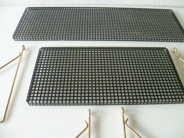 stylisches wandregal regal string metall lochblech 50er 60er 50s 60s ablage ebay. Black Bedroom Furniture Sets. Home Design Ideas