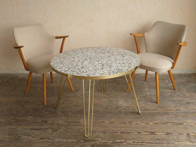 exklusiver coffee table mosaiktisch fliesen mosaik tisch hairpin legs 50er 60er ebay. Black Bedroom Furniture Sets. Home Design Ideas