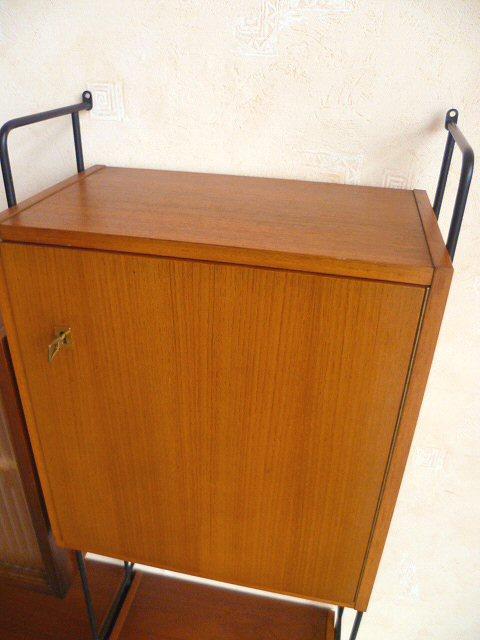 omnia regalsystem schrankwand regal schrank teak teakholz. Black Bedroom Furniture Sets. Home Design Ideas