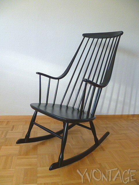 designer rocking chair schaukelstuhl stuhl lena larsson nesto sweden 50er 60er ebay. Black Bedroom Furniture Sets. Home Design Ideas