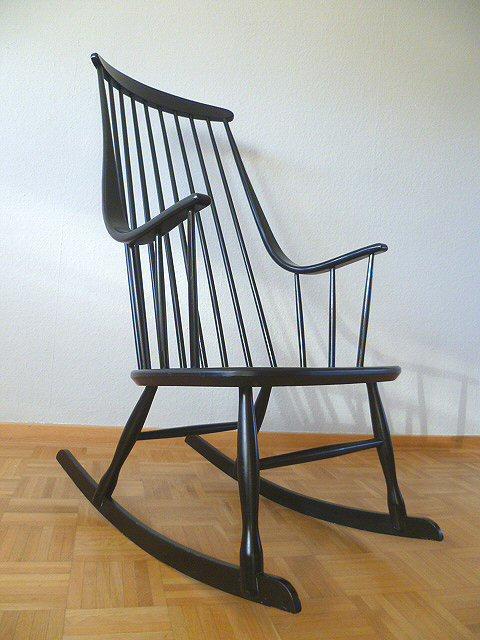 Designer rocking chair schaukelstuhl stuhl lena larsson for Schaukelstuhl 50er 60er