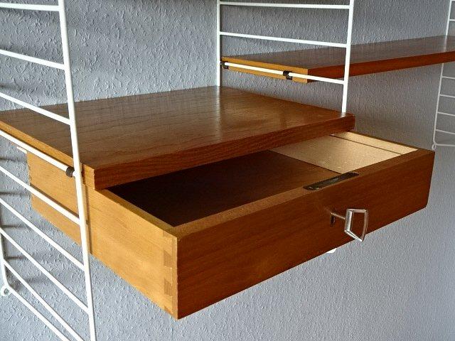 original stringregal string bokhyllan schublade regal regalsystem 50er 60er ebay. Black Bedroom Furniture Sets. Home Design Ideas