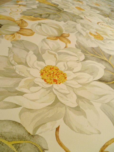 tapete wandtapete original 70er blumen floral frankreich. Black Bedroom Furniture Sets. Home Design Ideas