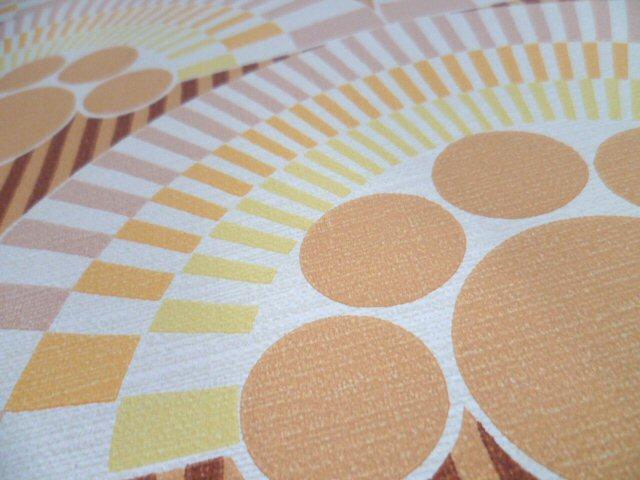tapete wandtapete original 70er pastell aprikot gelb. Black Bedroom Furniture Sets. Home Design Ideas