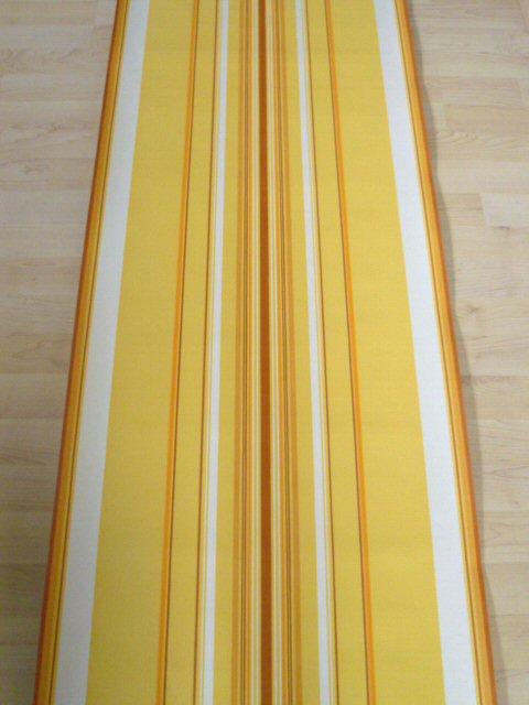 tapete wandtapete original 70er streifen orange gelb. Black Bedroom Furniture Sets. Home Design Ideas