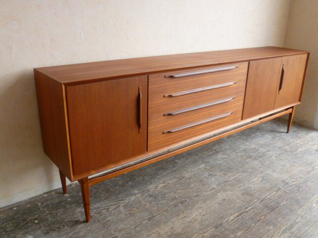 edles teak sideboard credenza anrichte teakholz schrank 60er 60s danish modern ebay. Black Bedroom Furniture Sets. Home Design Ideas