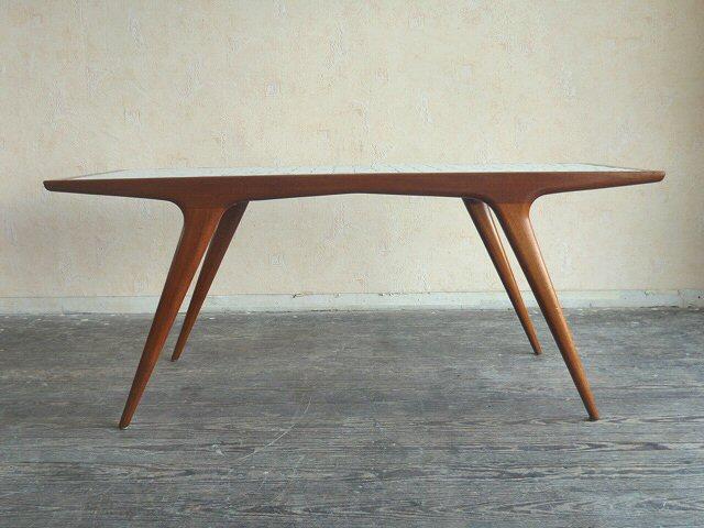 Holztisch danish design  Coffee Table Teak Teakholz Mosaik Wohnzimmertisch Tisch Danish ...
