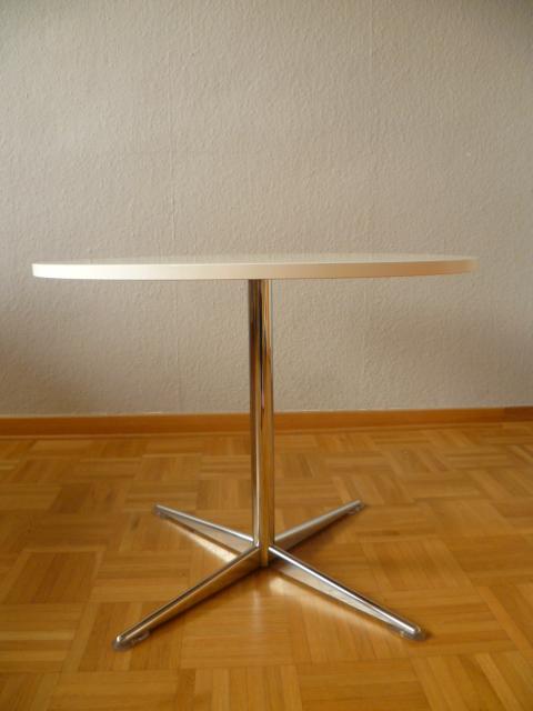 Beistelltisch coffee table tisch rund 60er 70er wei for Wohnzimmertisch 70er jahre