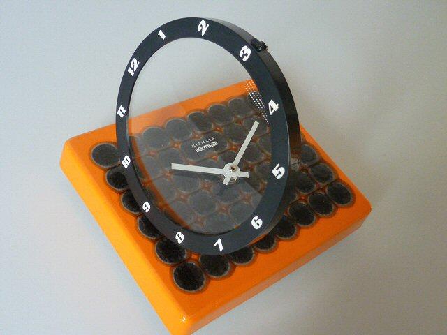 kienzle boutique wanduhr uhr k chenuhr 70er keramik orange schwarz ebay. Black Bedroom Furniture Sets. Home Design Ideas
